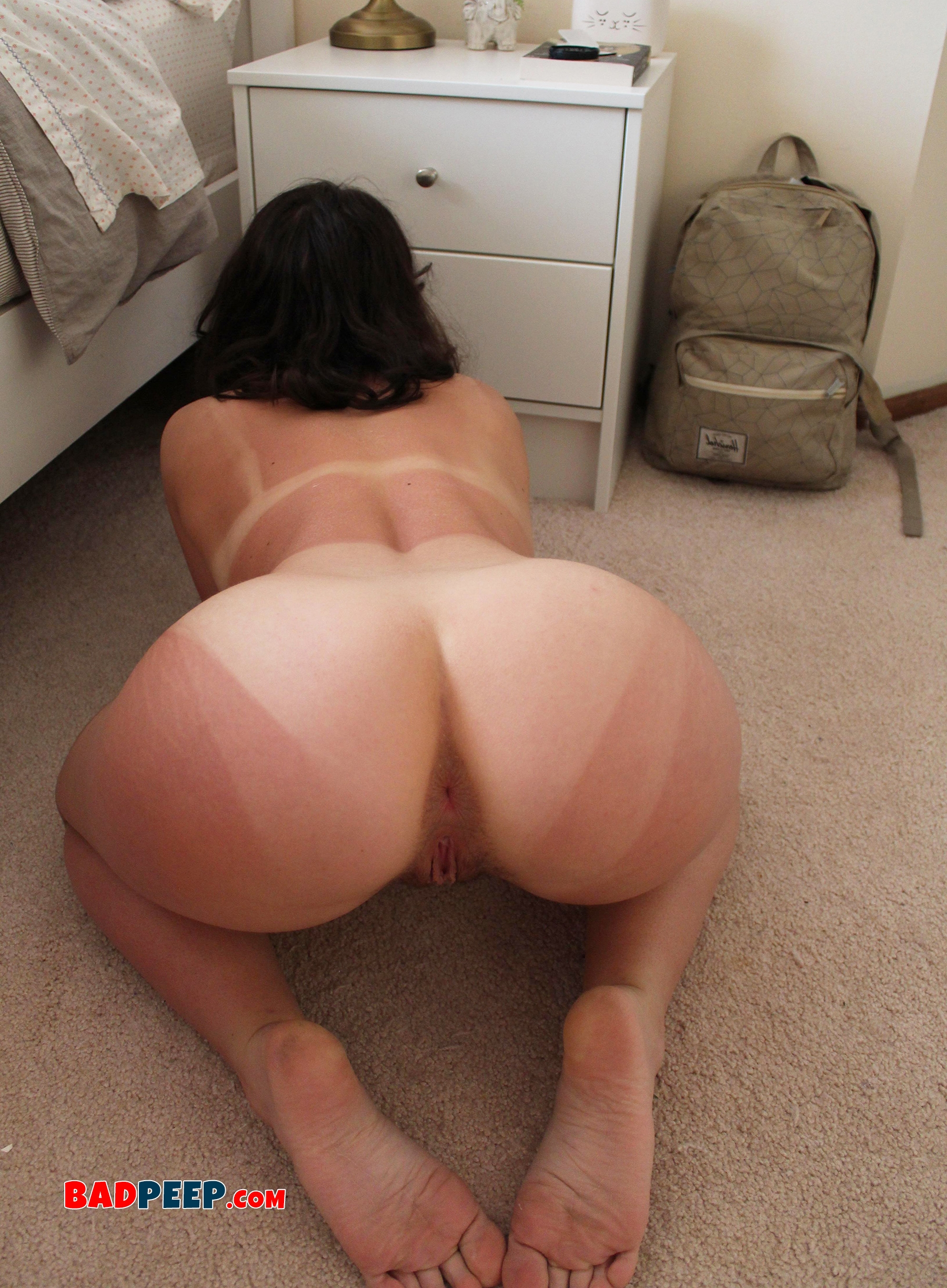 Naked girls show ass My New Girl Shows Difference Between Regular And Anal Doggy Style Pose Bad Peep